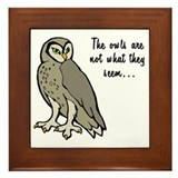 The Owls Framed Tile