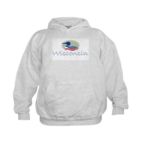 Proud Loon-Wisconsin: Kids Hoodie