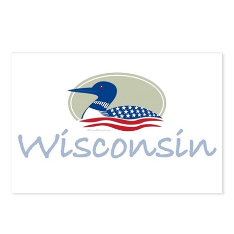 Proud Loon-Wisconsin: Postcards (Package of 8)