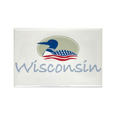 Proud Loon-Wisconsin: Rectangle Magnet (100 pack)