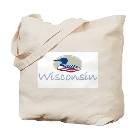 Proud Loon-Wisconsin: Tote Bag