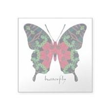 "Yule Butterfly Square Sticker 3"" x 3"""
