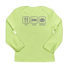 Eat Sleep Burger Long Sleeve Infant T-Shirt