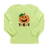 Treat Halloween Pumpkin Long Sleeve Infant T-Shirt