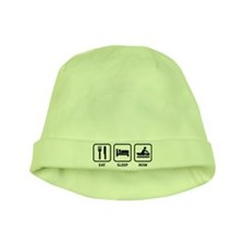 Eat Sleep Row baby hat