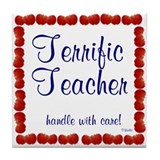 Terrific Teacher 1 Art Tile