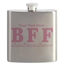 CUSTOM TEXT Best Friends Forever Flask