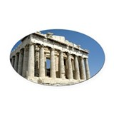 parthenon horizontal.jpg Oval Car Magnet