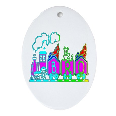 BRO Train II Oval Ornament