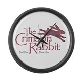 Crimson Rabbit Pinot Noir Large Wall Clock