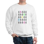 Colorful Treble Clefs Sweatshirt