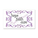CF Hope Faith Cure Curls Car Magnet 20 x 12