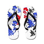 OYOOS Floral design Flip Flops