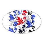 OYOOS Floral design Sticker (Oval 10 pk)