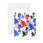 OYOOS Floral design Greeting Cards (Pk of 20)