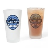 Park City Blue Drinking Glass