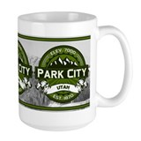 Park City Olive Ceramic Mugs