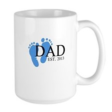 Dad, Est. 2013 Ceramic Mugs