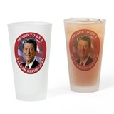 Proud Reagan Republican Drinking Glass