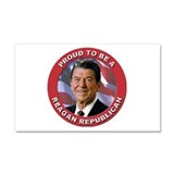 Proud Reagan Republican Car Magnet 20 x 12