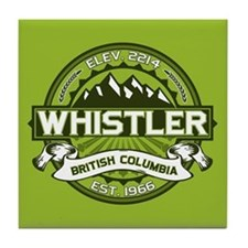 Whistler Green Tile Coaster
