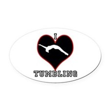 I LOVE TUMBLING Oval Car Magnet