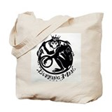 Laughing Monkey Burning Man Logo 2012 Tote Bag