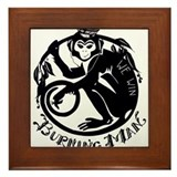 Laughing Monkey Burning Man Logo 2012 Framed Tile