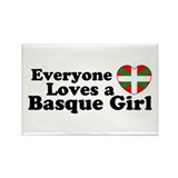 Basque Girl Rectangle Magnet (100 pack)