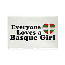 Basque Girl Rectangle Magnet (100 pack)