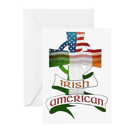 Irish American Celtic Cross Greeting Cards (Pk of