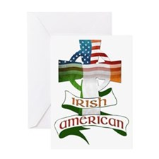 Irish American Celtic Cross Greeting Card