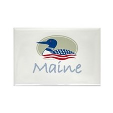 Proud Loon-Maine: Rectangle Magnet (100 pack)