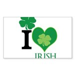 OYOOS Irish Heart design Sticker (Rectangle 10 pk)