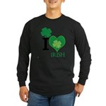 OYOOS Irish Heart design Long Sleeve Dark T-Shirt