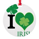 OYOOS Irish Heart design Round Ornament