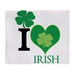 OYOOS Irish Heart design Throw Blanket