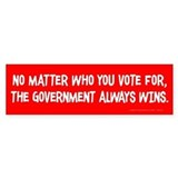 The Government Wins Car Sticker