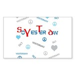 OYOOS SoYesterday design Sticker (Rectangle 50 pk)