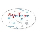 OYOOS SoYesterday design Sticker (Oval 10 pk)
