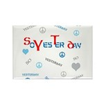 OYOOS SoYesterday design Rectangle Magnet (100 pac