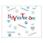 OYOOS SoYesterday design Small Poster