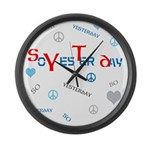 OYOOS SoYesterday design Large Wall Clock