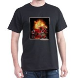 1920 Type 75 Antiqe Pumper Fire Truck Black TShirt