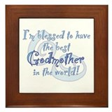 Blessed Godmother BL Framed Tile