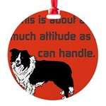 OYOOS Dog Attitude design Round Ornament