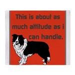 OYOOS Dog Attitude design Throw Blanket