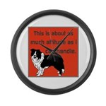 OYOOS Dog Attitude design Large Wall Clock
