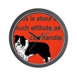 OYOOS Dog Attitude design Wall Clock