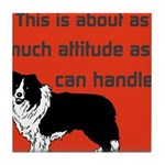 OYOOS Dog Attitude design Tile Coaster